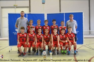 Montemar Baloncesto - Benjamin 2005 - Liga Escolar 2014 2015 - Campeones de Liga (Large)