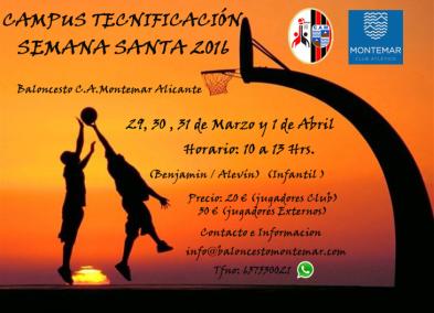 Campus Baloncesto C.A.Montemar - Semana Santa 2016