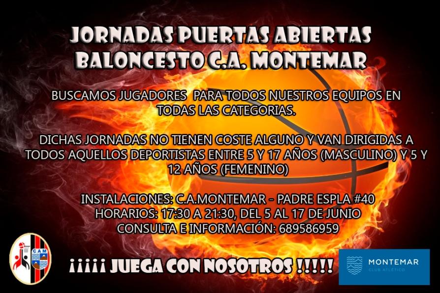 Jornadas Puertas Abiertas - Baloncesto C.A.Montemar Alicante